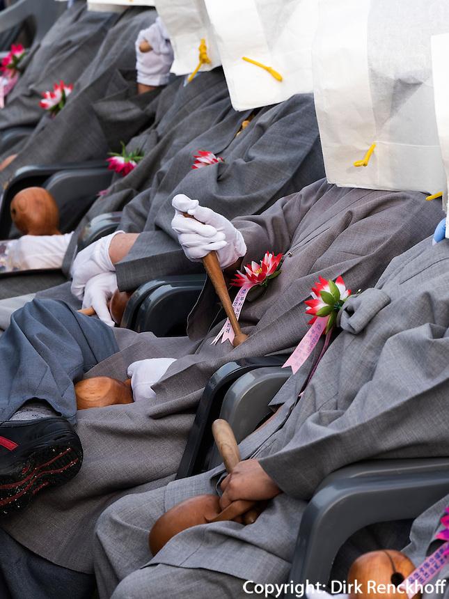 Musikerinnen bei Feier zu Buddha's Geburtstag, Andong, Provinz Gyeongsangbuk-do, S&uuml;dkorea, Asien<br /> musicians at celebrations for Buddha's birthday  in Andong,  province Gyeongsangbuk-do, South Korea, Asia