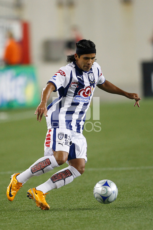 Pachuca CF forward Edwin Borboa (13). The New England Revolution defeated Pachuca CF 1-0 during a Group B match of the 2008 North American SuperLiga at Gillette Stadium in Foxborough, Massachusetts, on July 16, 2008.