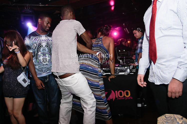 Guests partying at  night club on 217 Bowery, NY August 12, 2011.