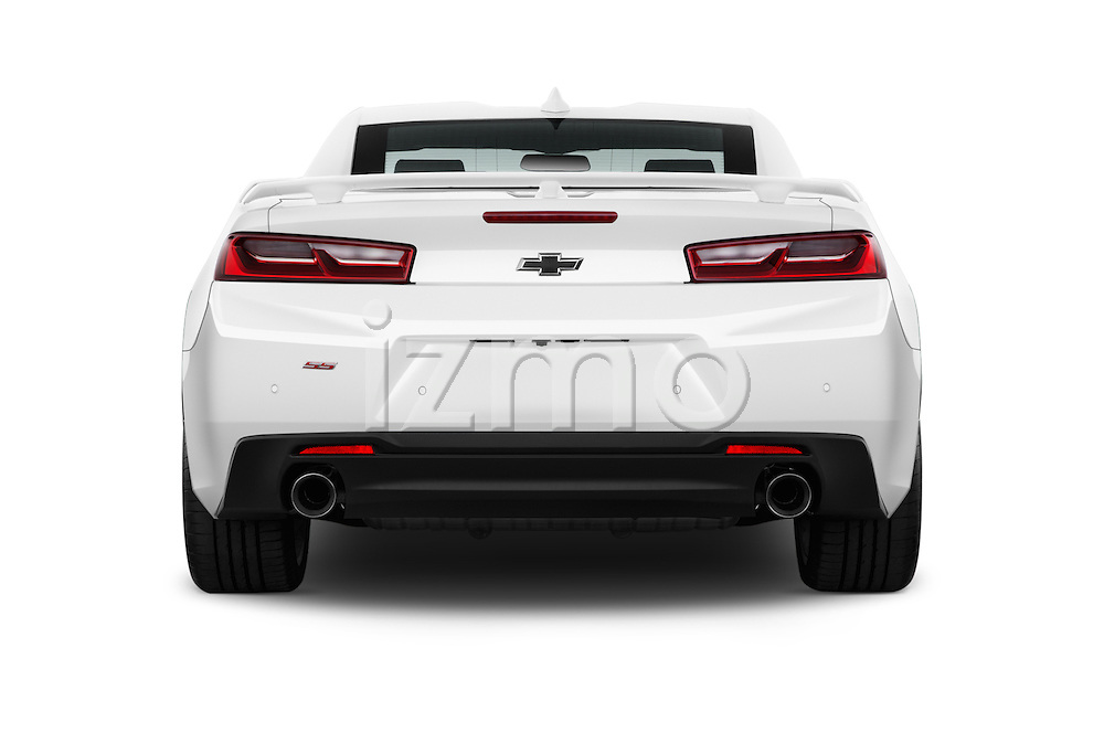 Straight rear view of 2018 Chevrolet Camaro 2SS 2 Door Coupe Rear View  stock images