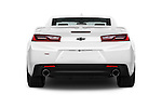 Straight rear view of 2016 Chevrolet Camaro 2SS 2 Door Coupe Rear View  stock images