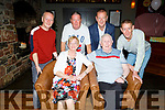 Sonny and Elsie Healy from Spa Road celebrating their 50th wedding anniversary in the Ashe Hotel on Friday night with their sons Philip, Matthew, John and Mike Healy