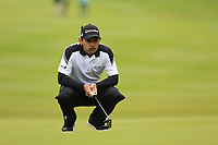 Fabrizio Zanotti (PAR) on the 1st green during Saturday's Round 3 of the 2017 Omega European Masters held at Golf Club Crans-Sur-Sierre, Crans Montana, Switzerland. 9th September 2017.<br /> Picture: Eoin Clarke | Golffile<br /> <br /> <br /> All photos usage must carry mandatory copyright credit (&copy; Golffile | Eoin Clarke)