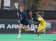 College Park, MD - April 19, 2018: Penn State Nittany Lions Rachel Rosen (28) in action during game between Penn St. and Maryland at  Field Hockey and Lacrosse Complex in College Park, MD.  (Photo by Elliott Brown/Media Images International)