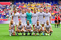 HARRISON, NJ - SEPTEMBER 29: Orlando Pride starting XI during a game between Orlando Pride and Sky Blue FC at Red Bull Arena on September 29, 2019 in Harrison, New Jersey.