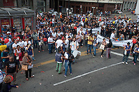 SÃO PAULO, SP, 26.05.2015 - PROTESTO-SP Servidores públicos do município de São Paulo realizam Ato em frente a Prefeitura na região central da cidade na tarde desta terça-feira, 26. ( Foto: Gabriel Soares / Brazil Photo Press)