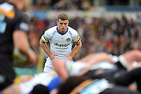 George Ford watches a scrum. Aviva Premiership match, between Wasps and Bath Rugby on October 12, 2014 at Adams Park in High Wycombe, England. Photo by: Patrick Khachfe / Onside Images