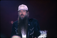 Billy Gibbons of ZZ Top performs at The Rosemont Horizon outside Chicago, Illinois.<br /> June 5,1986<br /> CAP/MPI/GA<br /> ©GA/MPI/Capital Pictures