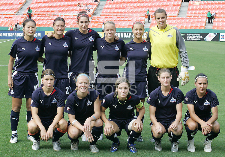 Washington Freedom starting eleven during a WPS match against St. Louis Athletica at RFK Stadium on July 18 2009, in Washington D.C. Freedom won the match 1-0.
