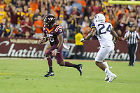 Landover, MD - September 3, 2017: Virginia Tech Hokies wide receiver Sean Savoy (15) runs with the ball during game between Virginia Tech and WVA at  FedEx Field in Landover, MD.  (Photo by Elliott Brown/Media Images International)