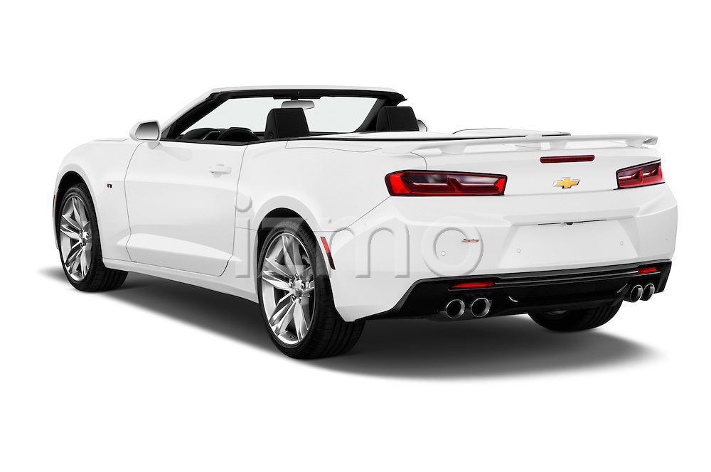 Car pictures of rear three quarter view of 2016 Chevrolet Camaro 2SS 2 Door Convertible Angular Rear
