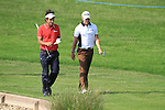Edoardo Molinari and Danny willett walk the 13th on day two of the Celtic Manor wales Open 2010.Picture Fran Caffrey/Newsfile.ie