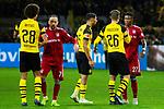 10.11.2018, Signal Iduna Park, Dortmund, GER, 1.FBL, Borussia Dortmund vs FC Bayern M&uuml;nchen, DFL REGULATIONS PROHIBIT ANY USE OF PHOTOGRAPHS AS IMAGE SEQUENCES AND/OR QUASI-VIDEO<br /> <br /> im Bild | picture shows:<br /> nach dem Spiel gratulieren Franck Ribery (Bayern #7)  und David Alaba (Bayern #27) den Dortmundern Axel Witsel (Borussia Dortmund #28), Achraf Hakimi (Borussia Dortmund #5) und Lukasz Piszczek (Borussia Dortmund #26) zum Sieg, <br /> <br /> Foto &copy; nordphoto / Rauch