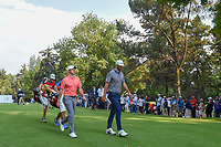 Rory McIlroy (NIR) and Dustin Johnson (USA) make their way down 18 during round 4 of the World Golf Championships, Mexico, Club De Golf Chapultepec, Mexico City, Mexico. 2/24/2019.<br /> Picture: Golffile | Ken Murray<br /> <br /> <br /> All photo usage must carry mandatory copyright credit (© Golffile | Ken Murray)