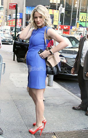 NEW YORK, NY - July 11: Sara Haines co-host of The View seen leaving Good Morning America in New York City on July 11, 2018 Credit: RW/MediaPunch