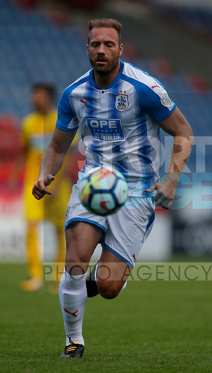 Laurent Depoitre of Huddersfield during the pre season friendly at the John Smith's Stadium, Huddersfield. Picture date: July 26th 2017. Picture credit should read: Simon Bellis/Sportimage