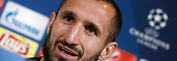 Football Soccer - Juventus Press conference- Uefa Champions League, Juventus stadium, Turin, Italy, May 8, 2017.<br /> Juventus Giorgio Chiellini during the press conference before the semifinal against Monaco.