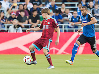 SAN JOSE, CA - May 18, 2018: The San Jose Earthquakes vs Real Sociedad international friendly match at Avaya Stadium. Final score SJ Earthquakes 2, Real Sociedad 1.