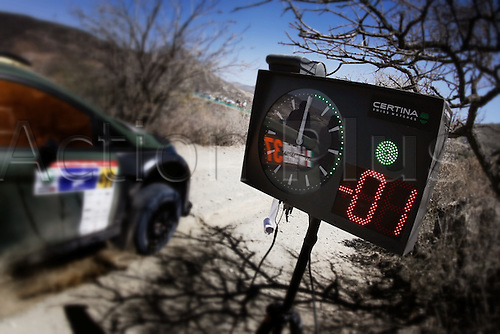 06.03.2014. GUANAJUATO, Mexico. The World Rally Championships (WRC) of Mexico.  Cars pass a timing zone check