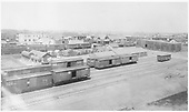 D&amp;RG standard &amp; narrow gauge boxcars in an early view of the Alamosa Yard.<br /> D&amp;RG  Alamosa, CO  Taken by Davis, O. T. - 1900