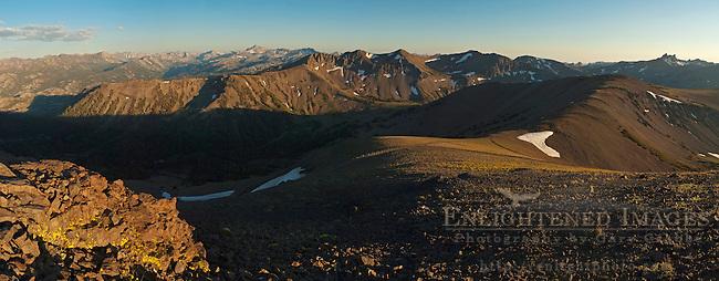 Panorama of the High Sierra from Leavitt Pass, Emigrant Wilderness, California