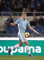 Calcio, Serie A: Lazio, Stadio Olimpico, 13 febbraio 2017.<br /> Lazio's Ciro Immobile in action during the Italian Serie A football match between Lazio and Milan at Roma's Olympic Stadium, on February 13, 2017.<br /> UPDATE IMAGES PRESS/Isabella Bonotto