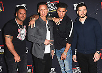 "WEST HOLLYWOOD, CA - MARCH 29:   Ronnie Ortiz-Magro, Mike Sorrentino, Pauly DelVecchio and Vinny Guadagnino at the ""Jersey Shore Family Vacation"" Global Premiere at HYDE Sunset: Kitchen + Cocktails on March 29, 2018 in West Hollywood, California. (Photo by Scott KirklandPictureGroup)"