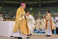 RIO DE JANEIRO, RJ, 28 JULHO 2012 - JMJ2013-PREPARAI O CAMINHO- Don Orani, Arcebispo da Arquidiocese do rio de janeiro no  evento Preparai o Caminho,no maracanazinho, inicio da preparacao para a Jornada Mundial da Juventude-JMJ2013,no Rio de Janeiro, neste sabado dia 28, maracana, zona norte do rio.(FOTO: MARCELO FONSECA / BRAZIL PHOTO PRESS).