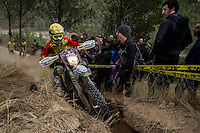 Spain's Mireia Badia during the second day Woman's trophy class of the FIM international six days of enduro 2016 in Navarra, Spain. October 11, 2016. (ALTERPHOTOS/Rodrigo Jimenez) NORTEPHOTO.COM