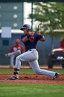 Cleveland Indians Gianpaul Gonzalez (6) during an instructional league game against the Cincinnati Reds on October 17, 2015 at the Goodyear Ballpark Complex in Goodyear, Arizona.  (Mike Janes/Four Seam Images)