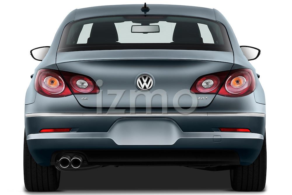 Straight rear view of a 2010 Volkswagen CC Sport R-Line Sedan