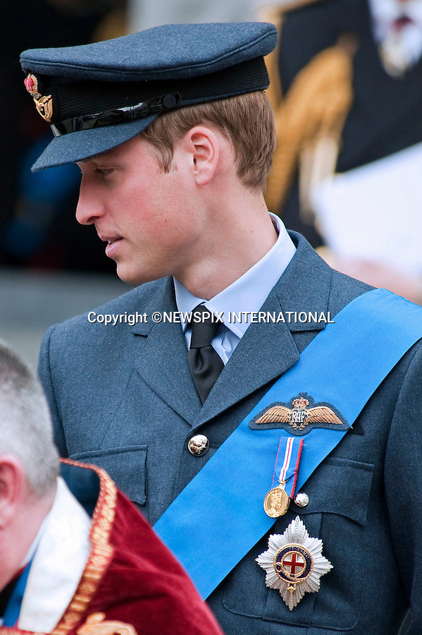 """PRINCE WILLIAM.attended the Service of Commemoration to mark the end of combat operations in Iraq in St Paul's Catherdral, London_09/10/2009.Mandatory Photo Credit: ©Dias/Newspix International..**ALL FEES PAYABLE TO: """"NEWSPIX INTERNATIONAL""""**..PHOTO CREDIT MANDATORY!!: NEWSPIX INTERNATIONAL(Failure to credit will incur a surcharge of 100% of reproduction fees)..IMMEDIATE CONFIRMATION OF USAGE REQUIRED:.Newspix International, 31 Chinnery Hill, Bishop's Stortford, ENGLAND CM23 3PS.Tel:+441279 324672  ; Fax: +441279656877.Mobile:  0777568 1153.e-mail: info@newspixinternational.co.uk"""