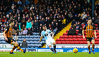 Blackburn Rovers' Adam Armstrong slots his side's first goal<br /> <br /> Photographer Alex Dodd/CameraSport<br /> <br /> The EFL Sky Bet Championship - Blackburn Rovers v Hull City - Saturday 26th January 2019 - Ewood Park - Blackburn<br /> <br /> World Copyright © 2019 CameraSport. All rights reserved. 43 Linden Ave. Countesthorpe. Leicester. England. LE8 5PG - Tel: +44 (0) 116 277 4147 - admin@camerasport.com - www.camerasport.com