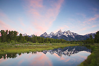 Sunrise at Shwabackers Landing, Grand Teton National Park<br />