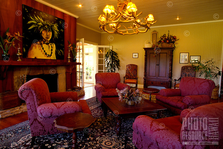 Jacaranda Inn interior, a bed & breakfast on Parker Ranch, Waimea