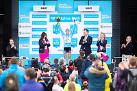 Picture by Alex Whitehead/SWpix.com - 04/05/2018 - Cycling - 2018 Asda Women's Tour de Yorkshire - Stage 1: Barnsley to Ilkley - Boels Dolmans Megan Guarnier takes the win on Stage 2 and the overall Asda Tour de Yorkshire Women's Race title.