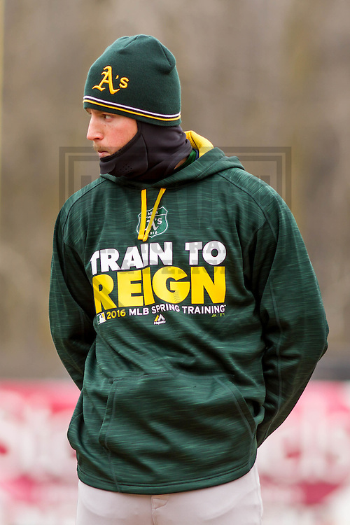 Beloit Snappers outfielder Skye Bolt (1) during pregame introductions prior to a Midwest League game against the Wisconsin Timber Rattlers on April 10th, 2016 at Fox Cities Stadium in Appleton, Wisconsin.  Wisconsin defeated Beloit  4-2. (Brad Krause/Krause Sports Photography)