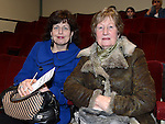 Linda Douglas and Ann O'Rourke pictured at the Ardee Brass Band concert in the Bohemian Centre. Photo:Colin Bell/pressphotos.ie