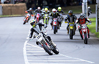 Nickolas Payne (Wanganui) competes in Supermoto race one. The 2018 Suzuki series Cemetery Circuit motorcycle racing at Cooks Gardens in Wanganui, New Zealand on Wednesday, 28 December 2018. Photo: Dave Lintott / lintottphoto.co.nz