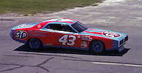 Richard Petty #43 Dodge at the Firecracker 400 at Daytona International Speedway in Daytona Beach, Florida on July 4, 1977. (Photo by Brian Cleary/www.bcpix.com)