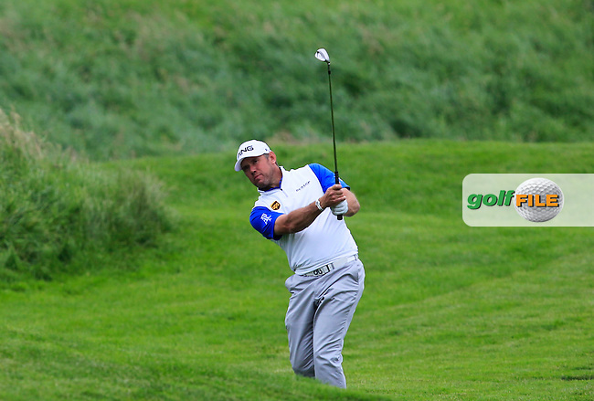 Lee Westwood (ENG) on the 9th fairway during Round 4 of the 100th Open de France, played at Le Golf National, Guyancourt, Paris, France. 03/07/2016. <br /> Picture: Thos Caffrey | Golffile<br /> <br /> All photos usage must carry mandatory copyright credit   (&copy; Golffile | Thos Caffrey)