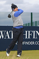 Richie Ramsay (SCO) on the 17th tee during round 4 of the Alfred Dunhill Links Championship at Old Course St. Andrew's, Fife, Scotland. 07/10/2018.<br /> Picture Thos Caffrey / Golffile.ie<br /> <br /> All photo usage must carry mandatory copyright credit (&copy; Golffile | Thos Caffrey)
