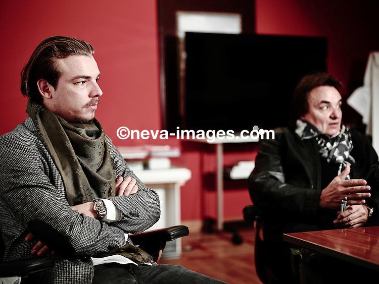 Martigny, le 27 octobre 2015, Christian Constantin et son fils Barthélémy  ©  Sedrik Nemeth