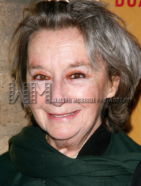 Zoe Caldwell arriving for the Opening Night Performance for THE SEAGULL at the Walter Kerr Theatre in New York City.<br />October 2, 2008