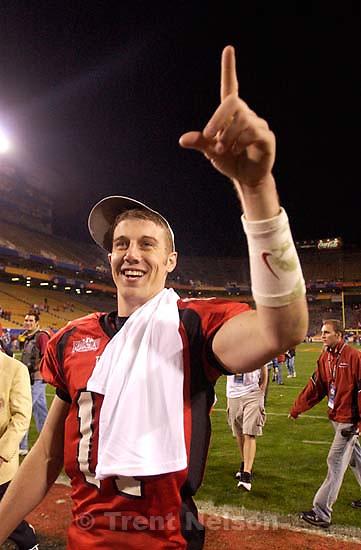 Alex Smith. Utah vs. Pittsburgh, Fiesta Bowl, Tempe.&amp;#xA;1.01.2005<br />