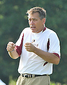 Ashburn, VA - July 20, 2008 -- Head Coach Jim Zorn calls instructions to his quarterbacks during the morning session of the opening day of the 2008 Washington Redskins training camp at Redskins Park in Ashburn Virginia on Sunday, July 20, 2008..Credit: Ron Sachs / CNP