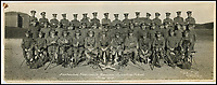 BNPS.co.uk (01202 558833)<br /> Pic: RSM/BNPS<br /> <br /> AA Milne (front row, 4th from right) with other Signals instructors at Portsmouth Garison Signalling School, 1917.<br /> <br /> A book of writings co-authored by AA Milne colourfully reflecting on his time spent as a First World War propagandist is being displayed for the first time ever. <br /> <br /> 'The Green Book' was written by the Winnie the Pooh author and fellow members of MI7b - a little-known intelligence branch of the War Office that produced propaganda. <br /> <br /> When the war ended officials attempted to destroy all traces of the secret department but four years ago 150 documents were unearthed inside the attic of one of its members. <br /> <br /> Now the ultra-rare copy, which is one of only two that exist, has been placed on display at the Royal Signals Museum in Blandford, Dorset.