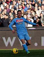 Dries Mertens  durante l'incontro di calcio di Serie A  Napoli Sampdoria allo  Stadio San Paolo  di Napoli , 6 gennaio 2014