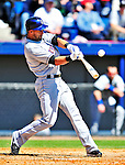 6 March 2010: New York Mets' outfielder Angel Pagan in action during a Spring Training game against the Washington Nationals at Space Coast Stadium in Viera, Florida. The Mets defeated the Nationals 14-6 in Grapefruit League action. Mandatory Credit: Ed Wolfstein Photo