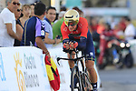 Luka Pibernik (SLO) Bahrain-Merida in action during Stage 1 of La Vuelta 2019, a team time trial running 13.4km from Salinas de Torrevieja to Torrevieja, Spain. 24th August 2019.<br /> Picture: Eoin Clarke | Cyclefile<br /> <br /> All photos usage must carry mandatory copyright credit (© Cyclefile | Eoin Clarke)